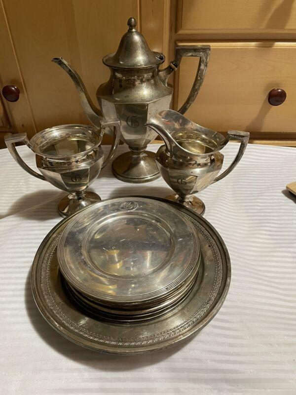 Custom Engraved Family Sterling silver Tea Set