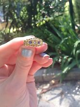 Antique 18ct diamond and sapphire 1816 gypsy ring North Melbourne Melbourne City Preview