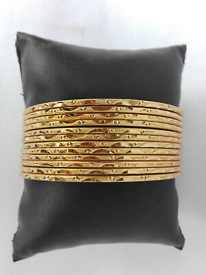 Ethnic 12PC Gold Plated Indian Bollywood Jewelry Fashion Bangles Bracelets Set
