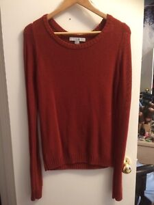 Orange knit shirt (Forever21)