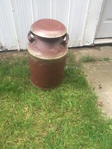 Old vintage milk can