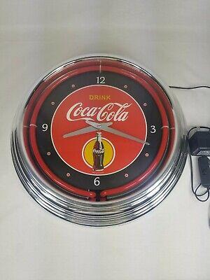 Coca-Cola Clock Neon Vintage Style Electric Light Garage Man Cave Wall Art