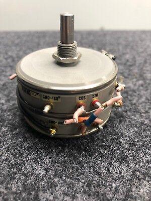 Spectrol Sin Cos Precision Potentiometer Model 302-5031 5k Ohms