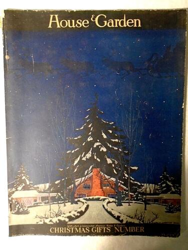 December 1916 HOUSE & GARDEN MAGAZINE Christmas Gift Number