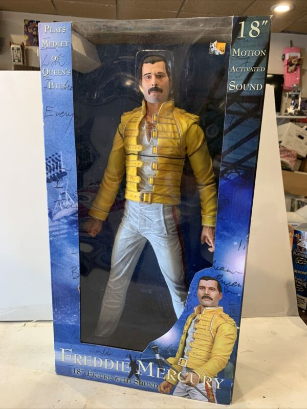 Sealed Freddie Mercury Queen Original 18 inch Figure W/ Sounds NECA Toy 2006