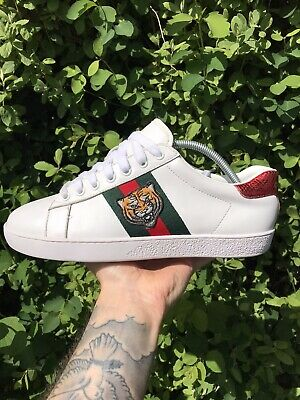 Men's Gucci Ace (Tiger) Leather Trainers Size 8