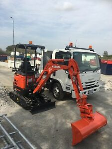 Kubota Mini Excavator / Isuzu Tipper Dry Hire