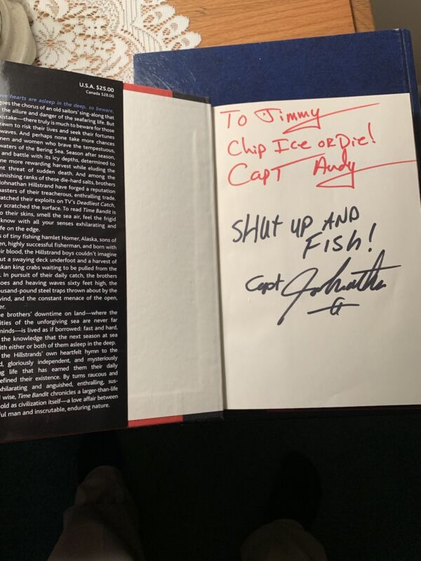 Johnathan & Andy Hillstrand Autographed 1st Edition HC Book Time Bandit!