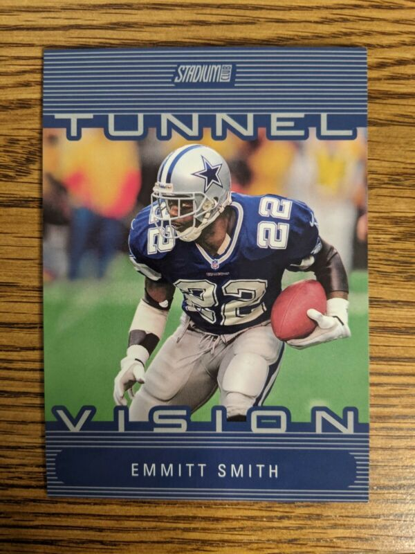 Emmitt Smith 2000 Topps Stadium Club Tunnel Vision Blue Jumbo Fold out COOL CARD