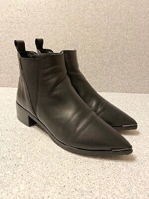 Acne Studios Jensen Ankle Boots Black Leather Size 36 $560 MSRP Nice Condition!