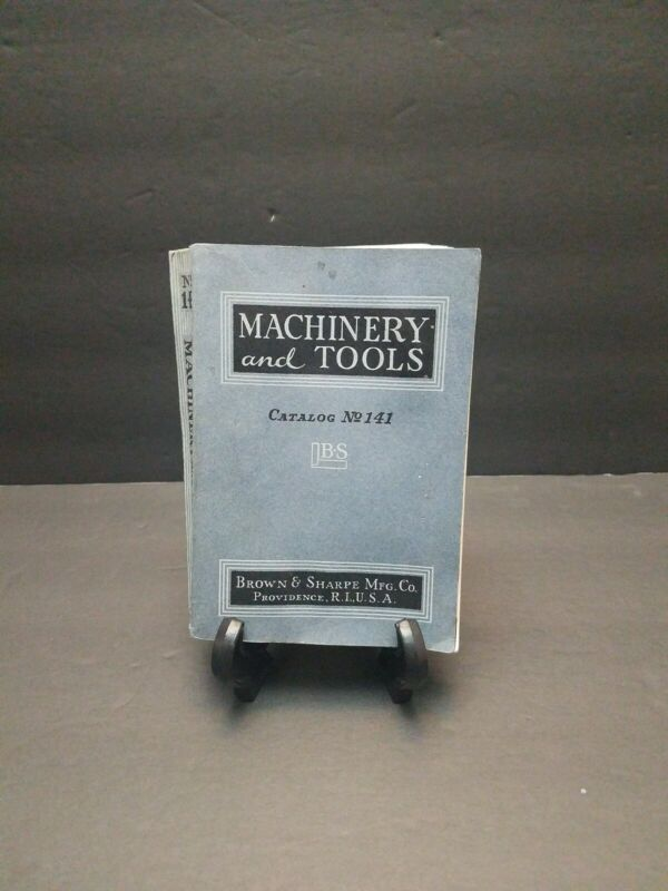 1939 Machinery & Tools Catalog Trade Catalog Brown & Sharpe Providence RI