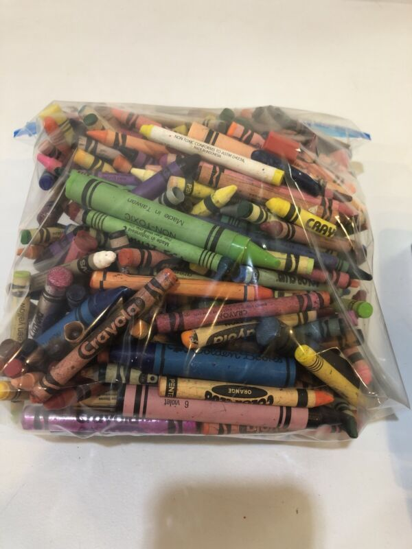 Used Crayons Lot 3-4lbs