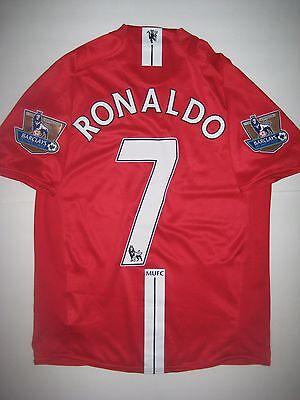 Manchester United Cristiano Ronaldo Nike Kit Jersey 2007 Real Madrid Portugal