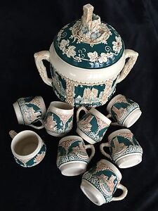 German Pottery Punch Set