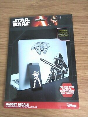 BN STAR WARS DECAL STICKERS (15) WATERPROOF AND REMOVABLE