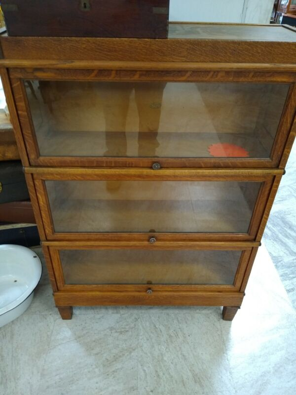 Antique Macey Barrister Lawyers Bookcase 3 Stack LOCAL PICKUP only