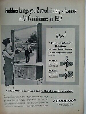1957 Fedders air conditioners multi-room cooling window unit vintage ad using