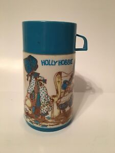 Vintage 1976 Holly Hobbie Lunch box thermos