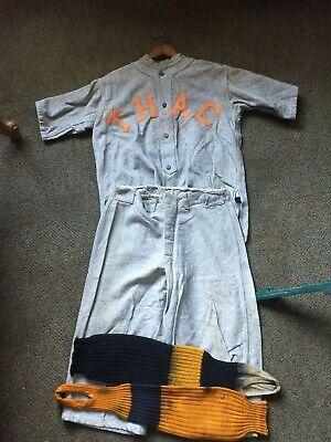 Vintage 1920s Original Wool Adult Baseball Uniform T.H. Athletic Club. Athletic Baseball Uniform