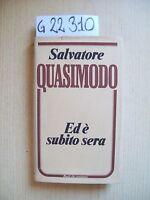 S. Quasimodo - Ed E' Subito Sera - Euroclub - 1983 -  - ebay.it
