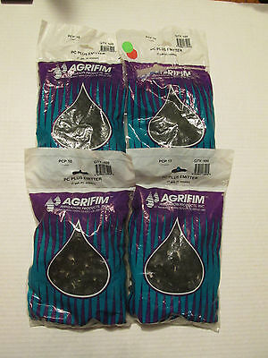 NEW LOT OF 382 PIECES Agrifim PC Plus Emitter, 1 GPH, Dripper, Drip, Sprinkler