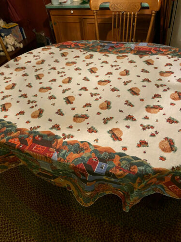 Vintage Fall / Thanksgiving Tablecloth