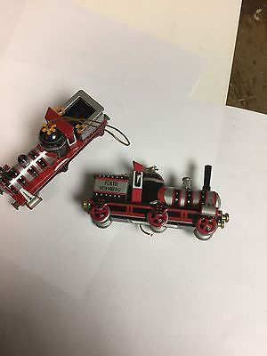 Ornaments Tin Trains