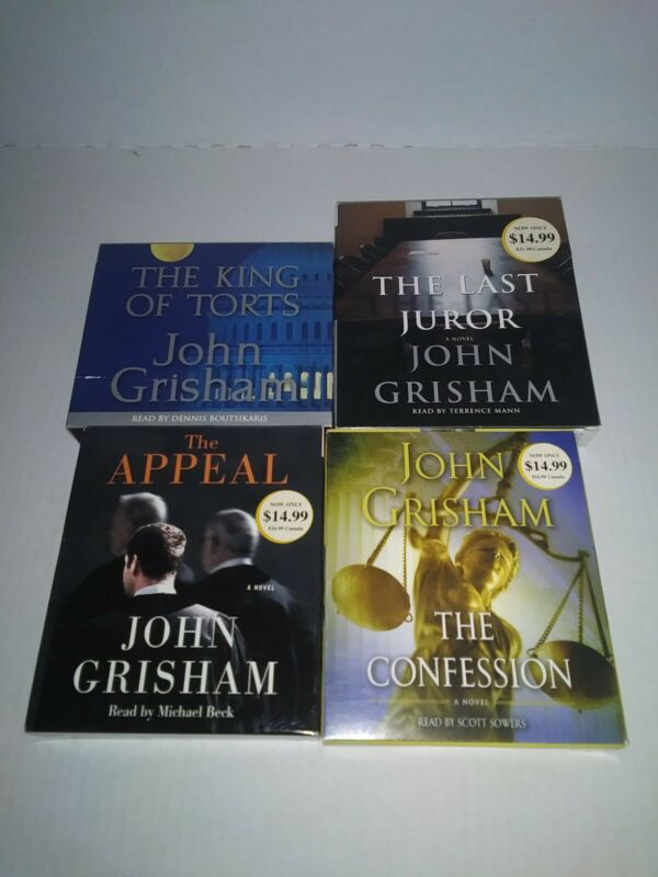 Lot Of 4 Cd Audio Books John Grisham