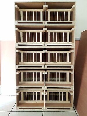 (FULLY BOOKED UNTIL JANUARY) 10 X Widowhood Pigeon Hen Boxes / Nest Boxes