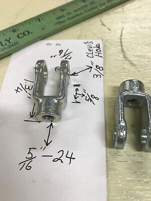 Qty 2 Catcaterpillar 4j2701 Rod End Clevis 516-24 Sae Pin Hole 38