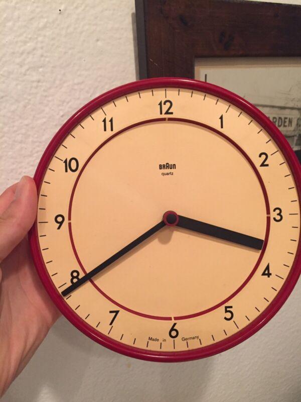 Braun Wall clock Dietrich Lubs Type 4780 ABK 20