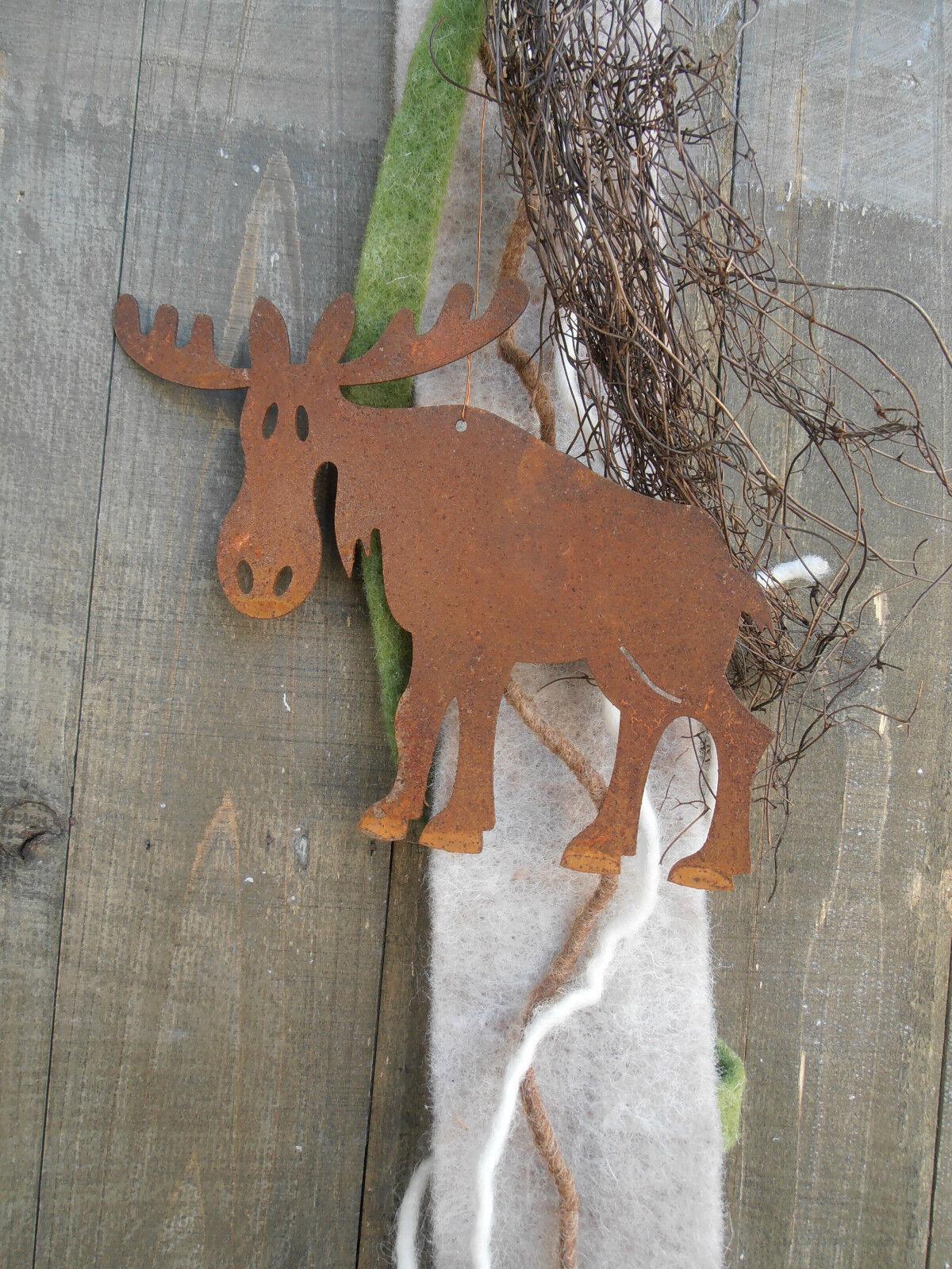 Edelrost rentier h nger elch metall weihnachten fenster for Rentier dekoration