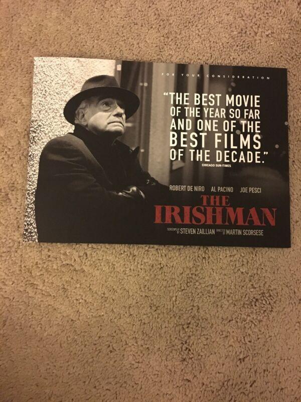 The Irishman Pressbook Oscar FYC Netflix Martin Scorsese Robert De Niro Pacino