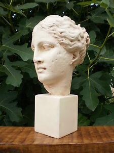 a03 grand buste statue hygie deesse grecque de la sante dite atalante ht 42 cm ebay. Black Bedroom Furniture Sets. Home Design Ideas