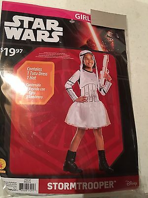 Halloween Costume Girl's Star Wars Storm Trooper Medium or Large - Storm Costume Halloween