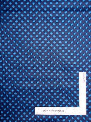 Patriotic Stars Star in Rows Blue Cotton Fabric #14431 Americana USA