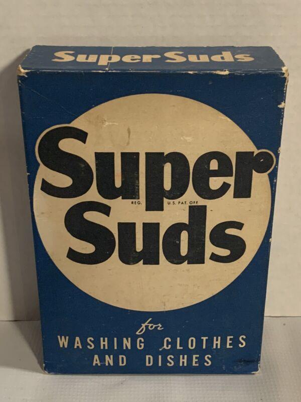 Vintage Super Suds Laundry Soap Box Unopened