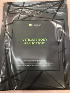 IT WORKS (4) Body Wraps Ultimate Applicators Tone Tighten Firm AUTHENTIC *READ*