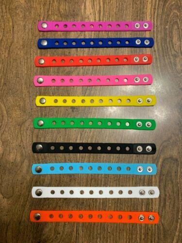 Kids Jibbitz Bracelets Fit Croc Shoe Charms 7 inches/18 cm adjustable 1 Bracelet