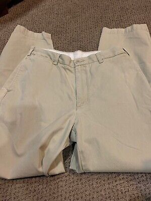 Nautica Mens Khaki Pants Clippers Relax Fit 34 X 32