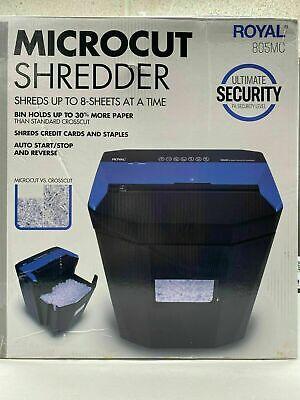 Royal 805mc Micro Cut Paper Shredder Heavy Duty 8 Sheet Micro Confetti Cut