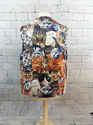 Funny Novelty Waistcoat Cats all Over Fun Fancy Dress Gift Idea Party Festival](Cat Costumes Ideas)