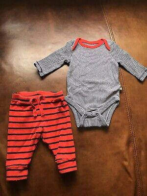 Gap long sleeve vest  + trousers baby boy 0-3 Months