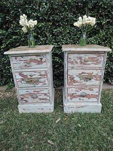 Pair of Rutic Bedside Tables Wollongong Wollongong Area Preview