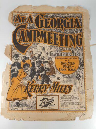 Antique Paper - 1898 - Georgia Campmeeting African American Black Americana