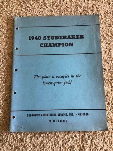1940 Studebaker Champion, original features catalogue.