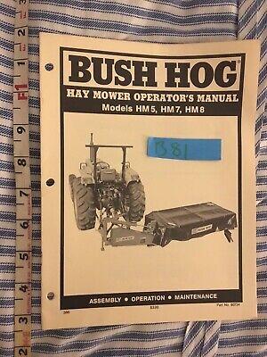 Bush Hog Hay Mower Hm5 Hm7 Hm8 Operators Manual - 20 Pages