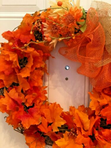 Fall and Thanksgiving Large NEW Handmade Door Wreath