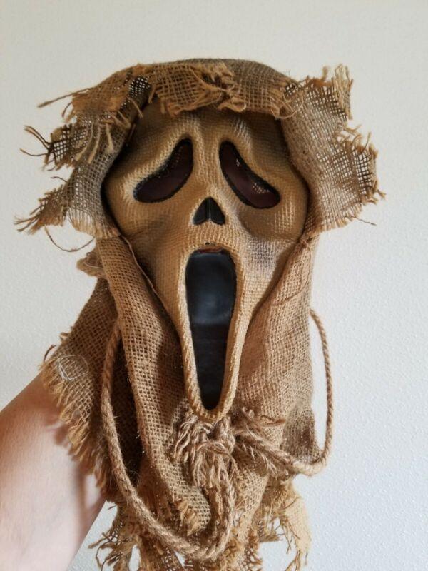 Rare SCREAM Ghostface Scarecrow BURLAP MASK Easter Unlimited Halloween/Monster