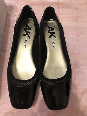 Anne Klein Sport Womens Unitee Black Flats Shoes 8.5 Medium (B,M) Black Sport Flat Shoes